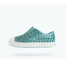 Native Jefferson Bling Child Shoes - Pool Bling/White
