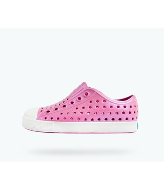 Native Jefferson Iridescent Child Shoes - Pink/White/Galaxy