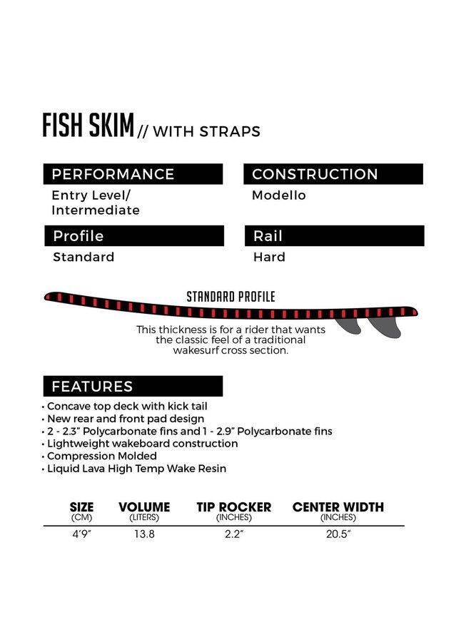 """4' 9"""" Ronix Modello Core Fish Skim Wakesurf Board"""