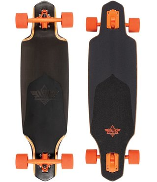 "Dusters Channel Black Prism 34"" Longboard Skateboard"