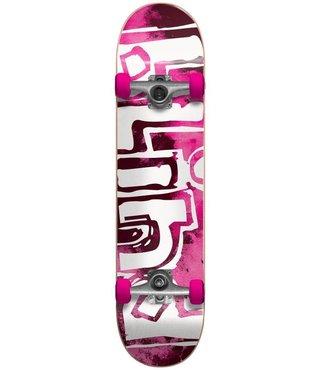 Blind OG Water Color Neon Pink 7.875 First Push Complete Skateboard
