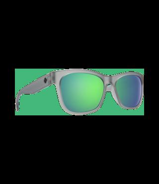 Spy Sundowner Matte Translucent Smoke Sunglasses w/ Gray Green Spectra Lenses