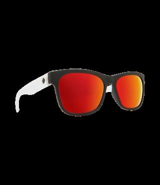 Spy Sundowner Matte Black/Crystal Sunglasses w/ Gray Red Spectra Lenses