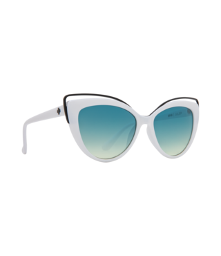Spy Julep White Sunglasses w/ Turquoise Fade Lenses