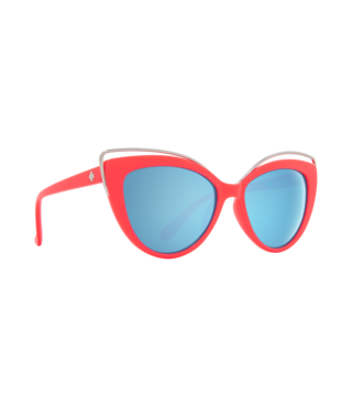 Spy Julep Coral Sunglasses w/ Gray with Light Blue Flash Mirror Lenses