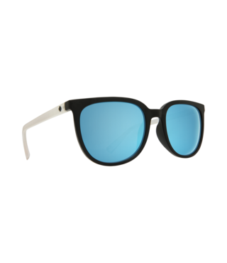 Spy Fizz Matte Black/Matte Crystal Sunglasses w/ Gray Light Blue Spectra Lenses