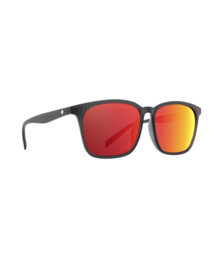 Spy Cooler Matte Translucent Gray Sunglasses w/ Gray with Coral Mirror Lenses
