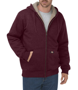 Dickies Sherpa Lined Fleece Hoodie - Burgundy