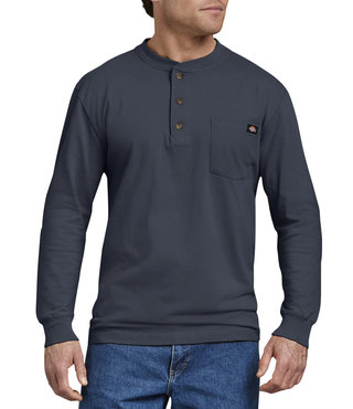 Dickies Long Sleeve Heavyweight Henley Shirt - Dark Navy