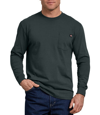 Dickies Long Sleeve Heavyweight Crew Neck Tee - Hunter Green