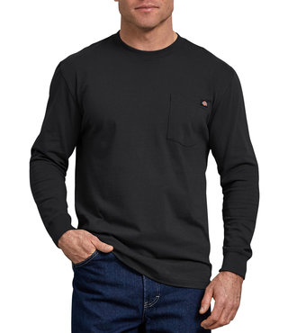 Dickies Long Sleeve Heavyweight Crew Neck Tee - Black
