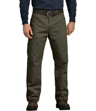 Dickies Relaxed Fit Straight Leg Carpenter Duck Jeans - Moss Green