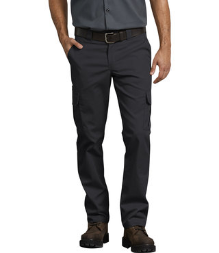 Dickies FLEX Slim Fit Straight Leg Cargo Pants - Black