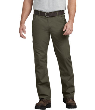 Dickies FLEX Regular Fit Straight Leg Tough Max™ Ripstop Carpenter Pants - Moss Green
