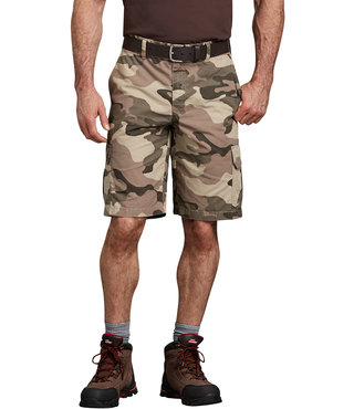 "Dickies 11"" Relaxed Fit Lightweight Ripstop Cargo Short - Pebble Brown/Black Camo"