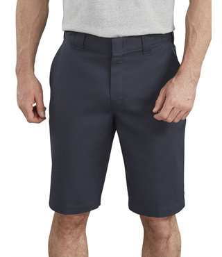 "Dickies 11"" Active Waist Flat Front Shorts - Dark Navy"