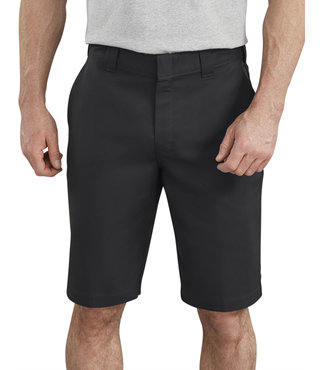 "Dickies 11"" Active Waist Flat Front Shorts - Black"
