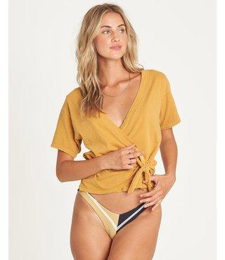 Billabong Under Wraps Short Sleeve Top - Wild Honey