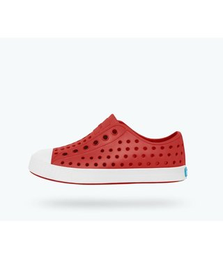 Native Jefferson Child Shoes - Torch Red / Shell White