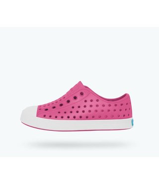 Native Jefferson Child Shoes - Hollywood Pink / Shell White