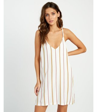 RVCA Fluke Striped Dress - Off White