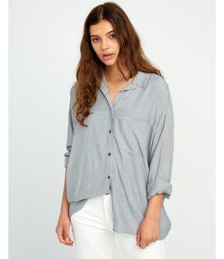 RVCA Charlie Striped Button-Up Shirt