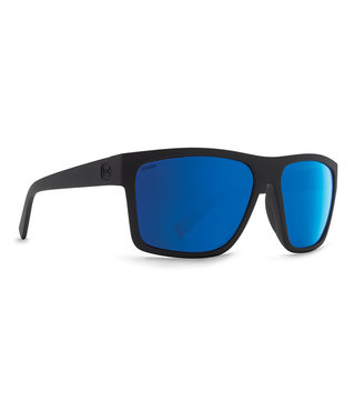 VonZipper Dipstick Polarized Sunglasses - Black Satin / WildLife Blue Flash Polarized+