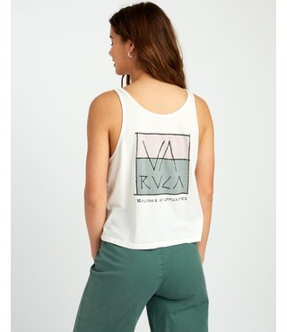 RVCA Split Scrawl Scoop Tank Top - Dove Gray