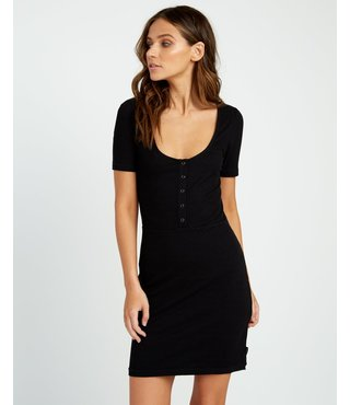 RVCA Go For Broke Ribbed Dress - Black