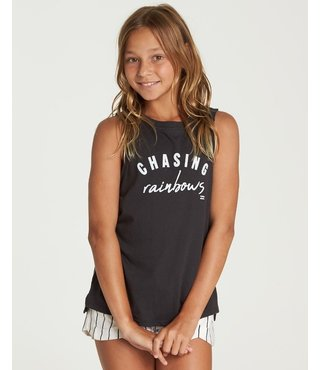 Billabong Girls' Chasing Rainbows Tank Top - Off Black