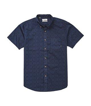 Billabong Boys' Sundays Mini Short Sleeve Button Up Shirt - Navy