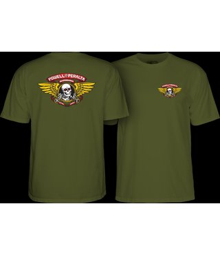 Powell Peralta Winged Ripper T-shirt - Military Green