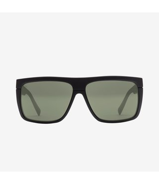 Electric Black Top Matte Black Sunglasses w/ Grey Polarized Lenses