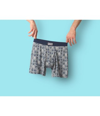 Saxx Ultra Boxer Brief w/ Fly - Grey Heather Marlins