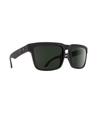Spy Helm Soft Matte Black Sunglasses w/ Happy Gray Green Lenses