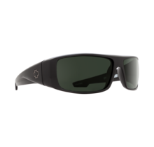 Spy Logan Black Sunglasses w/ Happy Gray Green Polar Lenses
