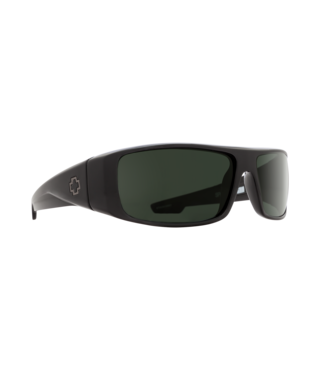 Spy Logan Black Sunglasses w/ Happy Gray Green Polar Lenses