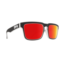 Spy Helm Whitewall Sunglasses w/ Happy Gray Green Red Spectra Lenses