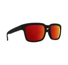 Spy Helm 2 Matte Black Sunglasses w/ Happy Gray Green Red Spectra Lenses