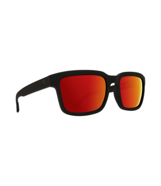 Spy Helm 2 Matte Black Sunglasses w/ Happy Gray Green Red Spectra Lenses
