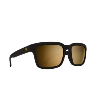 Spy Helm 2 Matte Black Sunglasses w/ Happy Bronze Gold Spectra Lenses