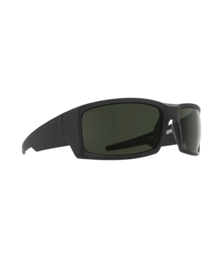 Spy General SOSI Matte Black ANSI RX Sunglasses w/ Gray Green Lenses