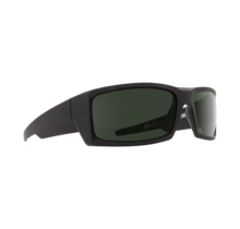Spy General Soft Matte Black Sunglasses w/ Happy Gray Green Lenses