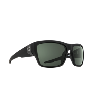 Spy Dirty Mo 2 Soft Matte Black Sunglasses w/ Gray Green Polar Lenses