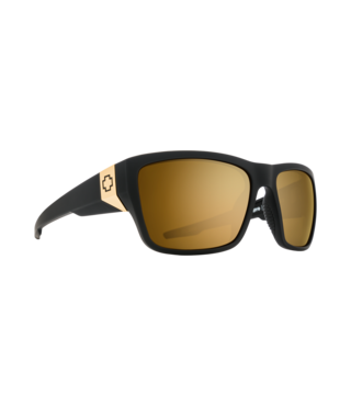 Spy Dirty Mo 2 Matte Black Gold Sunglasses w/ Bronze Gold Spectra Lenses