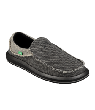 Sanuk Men's Chiba Slip On Shoes - Black/Charcoal