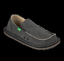 Sanuk Men's Vagabond Slip On Shoes - Charcoal