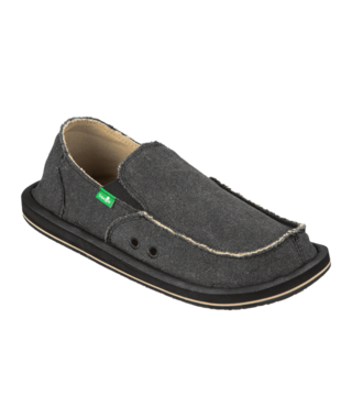 Sanuk Men's Vagabond Slip On Shoes - Charcoal
