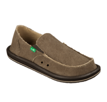 Sanuk Men's Vagabond Slip On Shoes - Brown