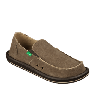 Sanuk Men's Vagabond Slip On Shoes - Brown